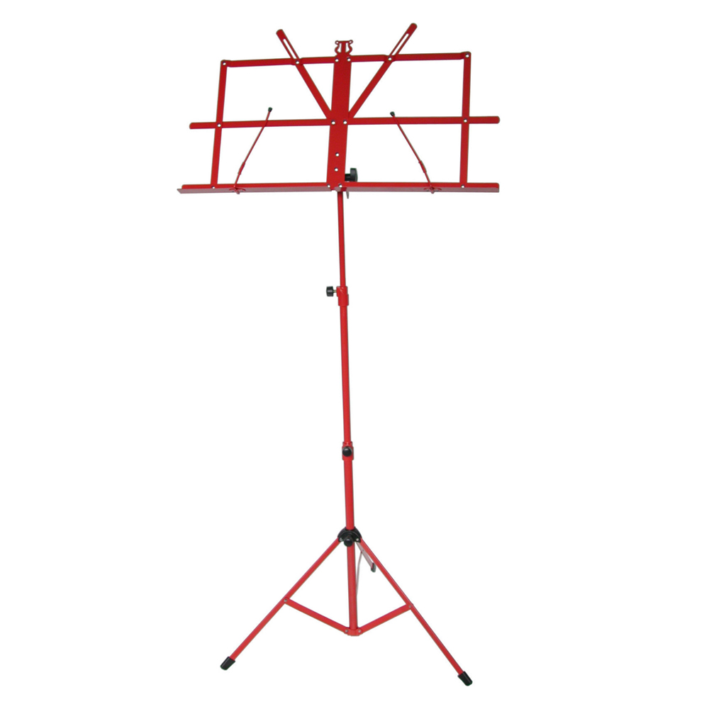 Sky Brand New Lightweight Adjustable Folding Music Stand with Carrying Bag-Red by