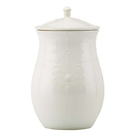 Lenox French Perle White Dinnerware Cookie Jar