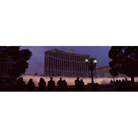 Low angle view of a hotel Bellagio Resort And Casino The Strip Las Vegas Nevada USA Poster Print