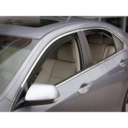 Weathertech 82505 09 13 acura tsx front and rear side for 05 acura tl rear window visor