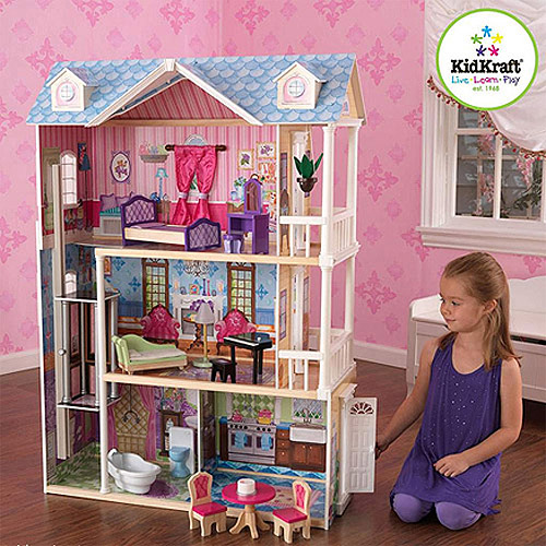 KidKraft My Dreamy Wooden Dollhouse with 14 Pieces Furniture