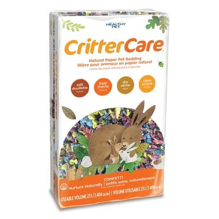 CritterCare Confetti Natural Paper Small Pet Bedding, 23L