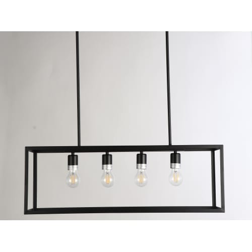 "JL Styles Inc JLS10505 Esporre 4 Light 30-1 2"" Wide Linear Chandelier by JL Styles Inc"