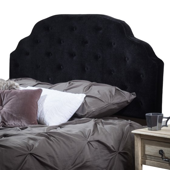 Coalmont Button Tufted Fabric Headboard, Black - Walmart.com