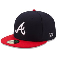 Atlanta Braves New Era Home Authentic Collection On-Field 59FIFTY Fitted Hat - Navy/Red