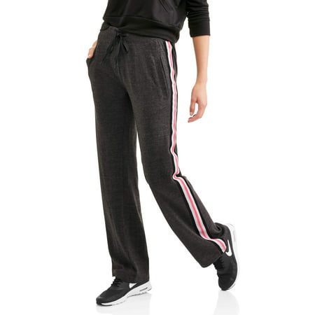 Thrill Women's Active Fleece Sweatpant with Athletic Stripes