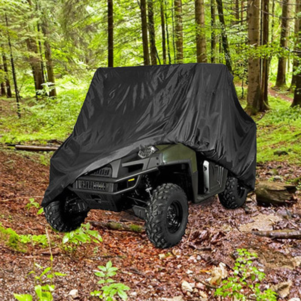 "Highly Durable UTV Cover 120"" Length Black Polyester Side By Side"