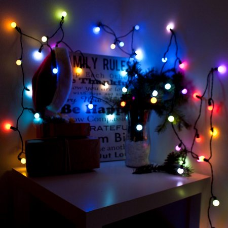 Aleko 2EL50LEDBRGB-UNB 19.5ft. Lampe torche extensible -lectrique multicolore, 50 DEL - No-l et f-tes, Lot de 2 - image 2 de 4