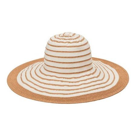 Women's San Diego Hat Company Paperbraid with Ribbon Sun Brim Hat PBL3090 Ivory One Size (21) Ivory Sun Hat