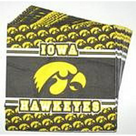 Iowa Hawkeyes Lucheon Napkin - 16 Pack - Team Color ()