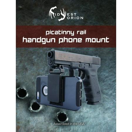 Rail Arm - Handgun Phone Smartphone Camera Mount for Any Picatinny Rail Equipped Handgun, Rifle, or Weapon