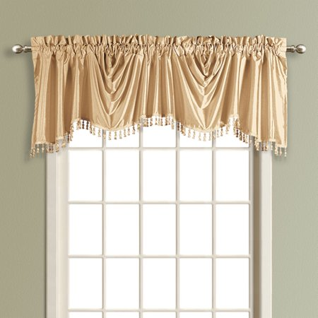 United Curtain Anna Lined Faux Silk Austrian Valance