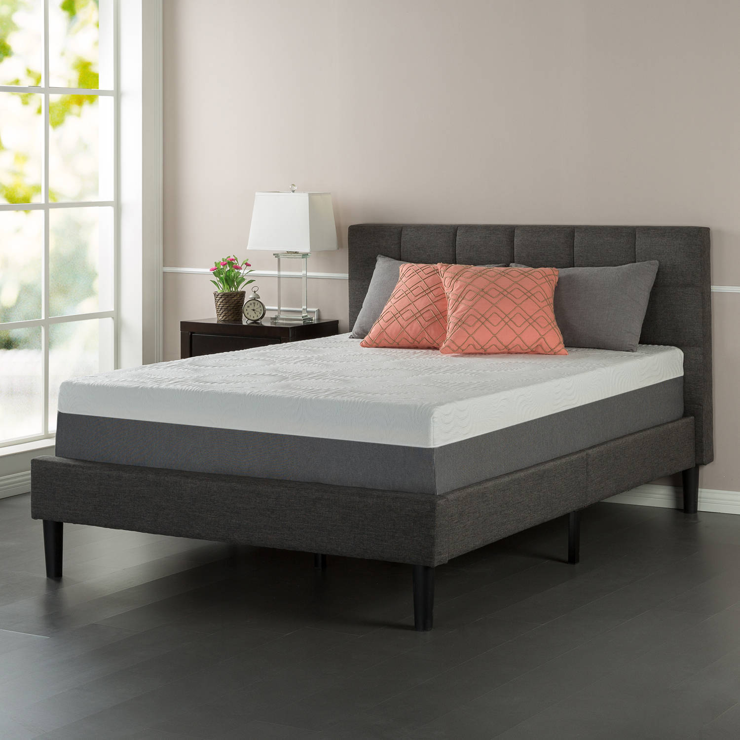 "Better Homes and Gardens 12"" Gel Infused Memory Foam Mattress, Multiple  Sizes - Walmart.com"
