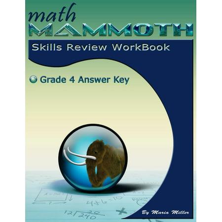 Math Mammoth Grade 4 Skills Review Workbook Answer