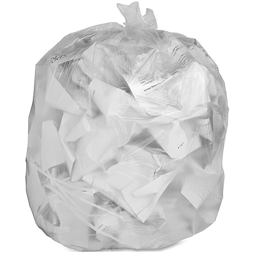 Genuine Joe Low Density Trash Can Liners, Clear, 60 gal, 100 count