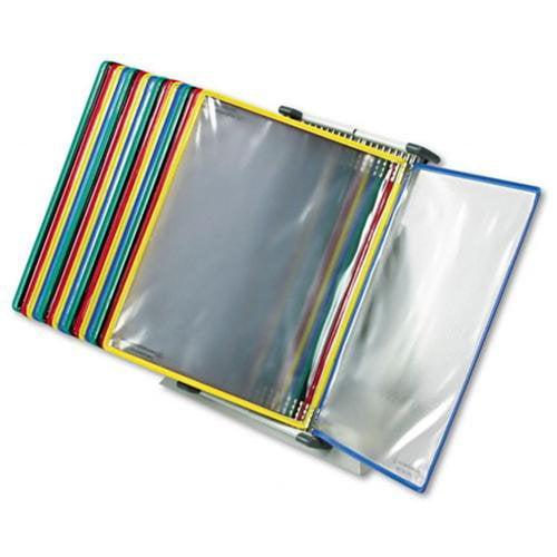 "Tarifold Desktop Organizer Starter Set With 20 Pockets - 20 Panels - 2 Sheet[s]/panel - Letter Size - 11"" Height X 14"" Width X 6"" Depth - Metal, Polyvinyl Chloride [pvc] - 1 Each - Assorted (d292)"