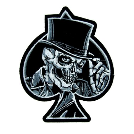 National Guard Acu Patch Foliage - Top Hat Death Skull Patch Iron On Applique Alternative Clothing Ace of Spades