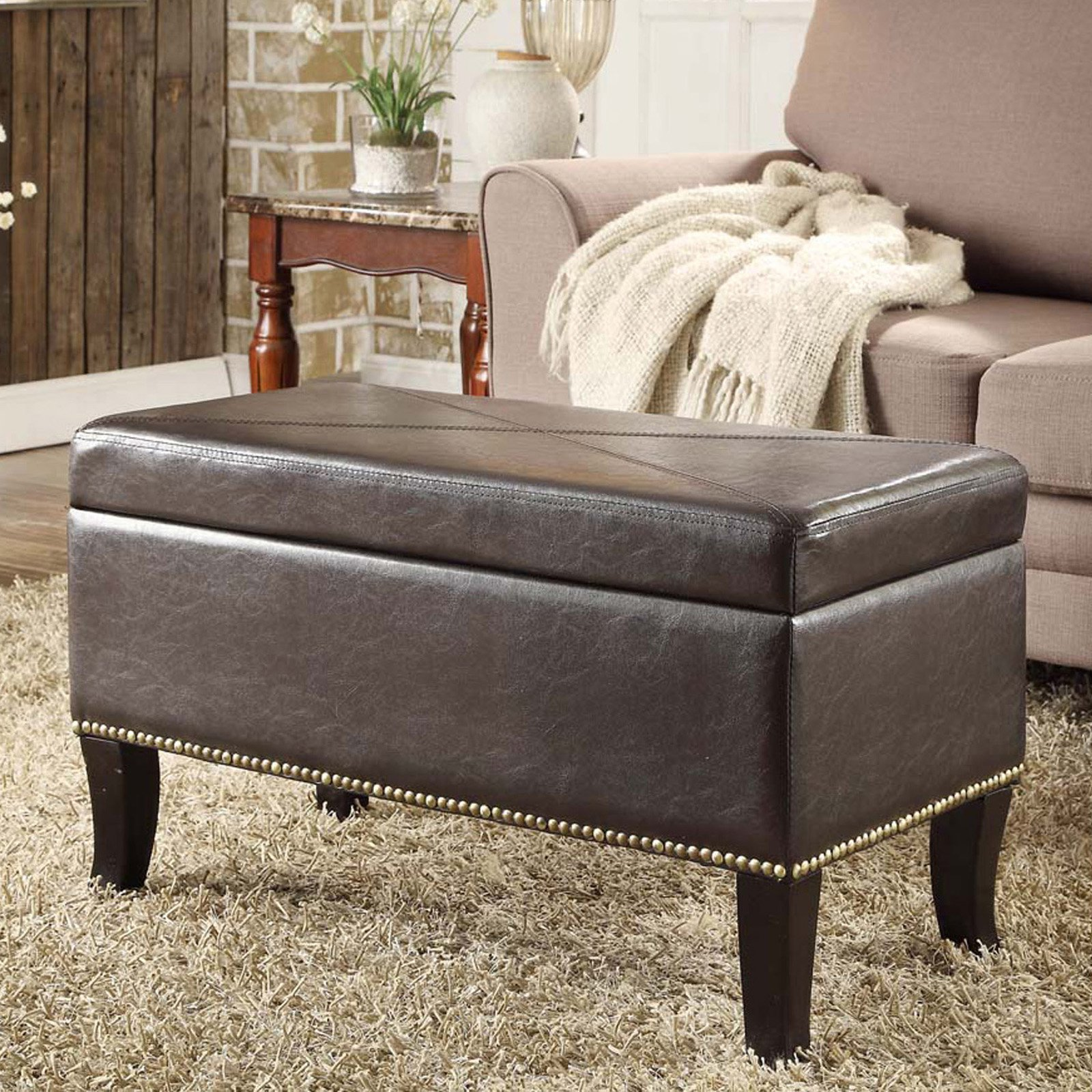 Convenience Concepts Designs4Comfort Winslow Storage Ottoman, Multiple Colors