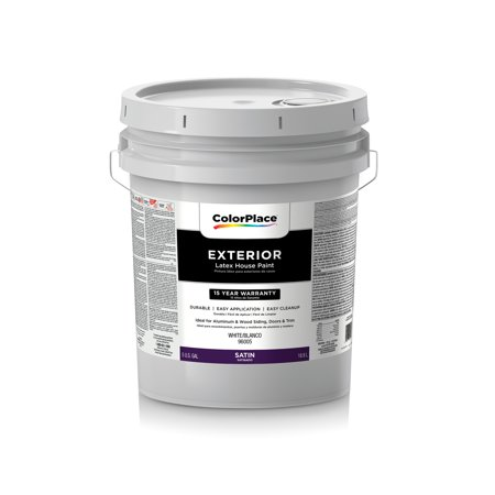 Colorplace Exterior Satin Paint White