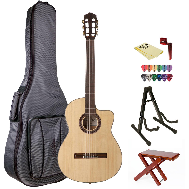 Cordoba GK Studio Acoustic Guitar with Cordoba Gig Bag and ChromaCast Accessories