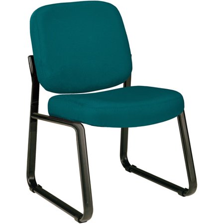 OFM Model 405 Fabric Armless Guest and Reception Chair, Teal