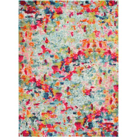 Unique Loom Champagne Chromatic Modern Abstract Area Rug or Runner (3ft Wide Runner)