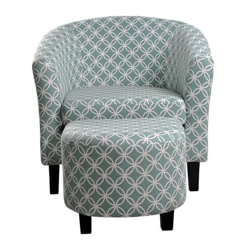 Ebern Designs Warrington Barrel Chair And Ottoman