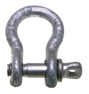 "Campbell 5411235 3/4"" ANCHOR SHACKLE,SCREW PIN,H/G"