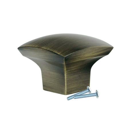 Dynasty Cabinet Hardware (Zen Dynasty Style, Rustic Brass Cabinet Hardware Knob, 1-7/32