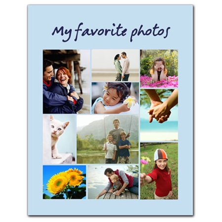 12x18 Photo Collage Poster, Matte Photo Paper