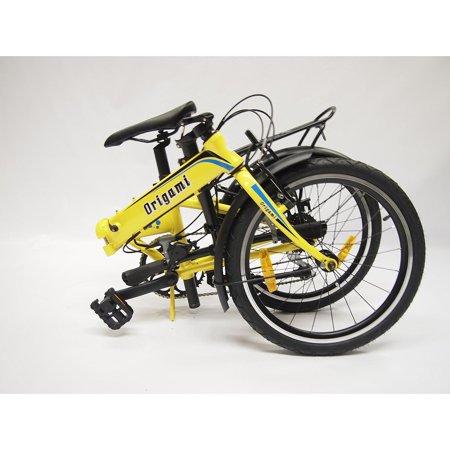 Origami Crane 8 Speed Folding Bicycle, Pearl Yellow, 13