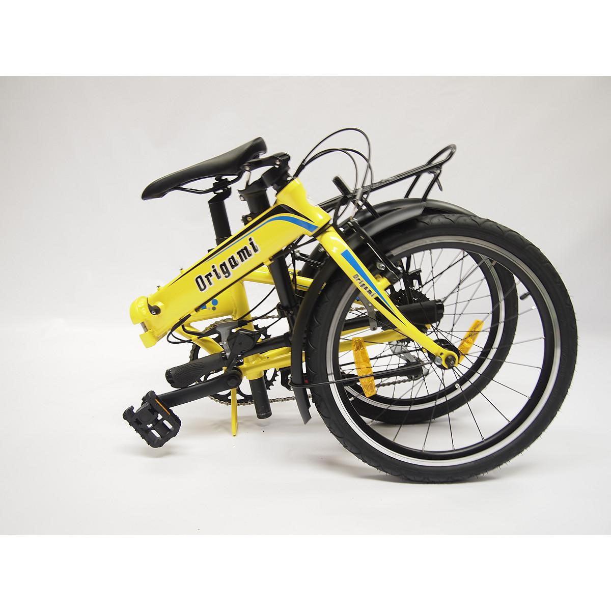 "Origami Crane 8 Speed Folding Bicycle, Pearl Yellow, 13""/Medium"