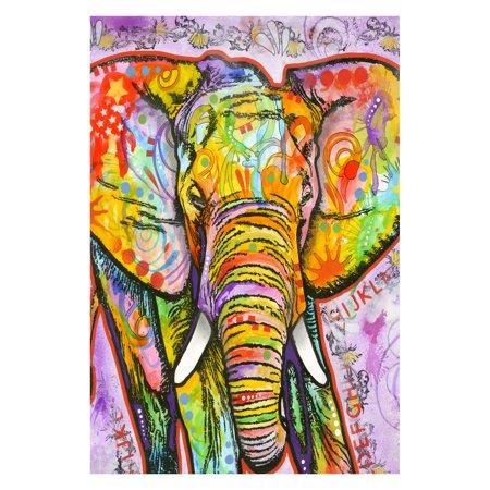 Toland Home Garden Neon Elephant Flag ()