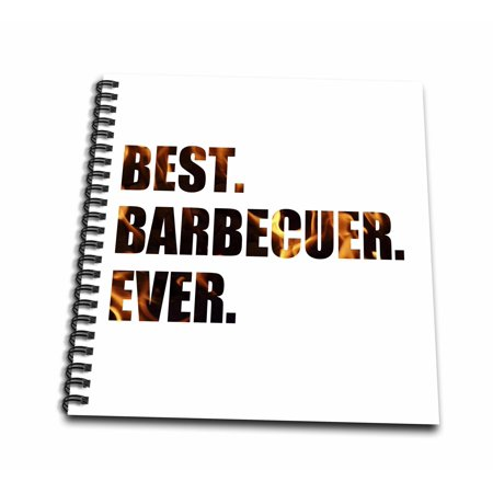 3dRose Best Barbecuer Ever - bbq grilling chef - barbecue grill king griller - Mini Notepad, 4 by (The Best Bbc Mini Series)