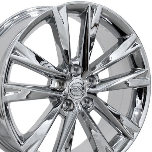 19x7.5 Wheel Fits Lexus, Toyota - RX 350 F Sport Style Chrome Rim, Hollander 74279
