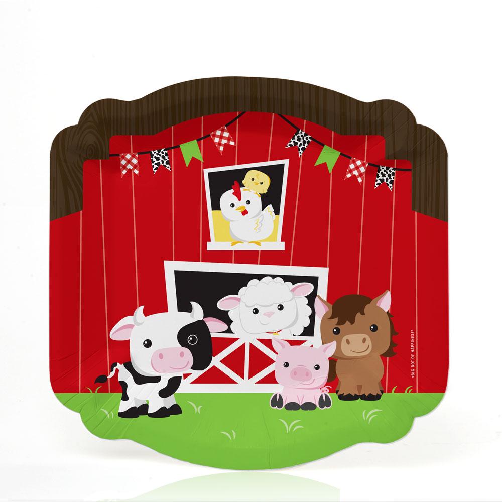 Buttonheadz COMBO PACK Farm Amimals clip art