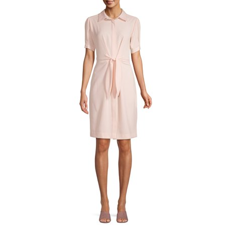 Lifestyle Attitudes Women's Tie Front Shirt Dress