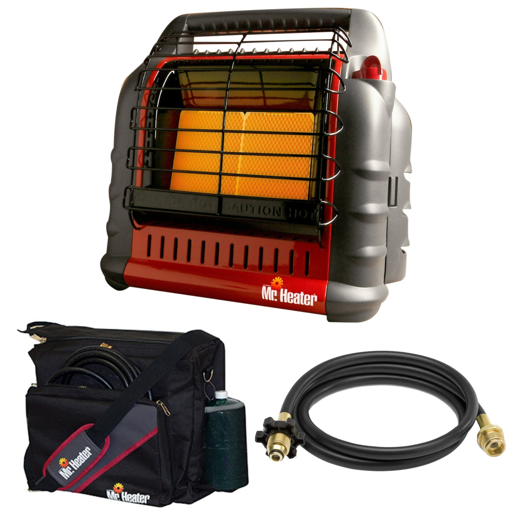 Mr. Heater Propane Big Buddy Portable Heater with 10' Propane Hose and Bag