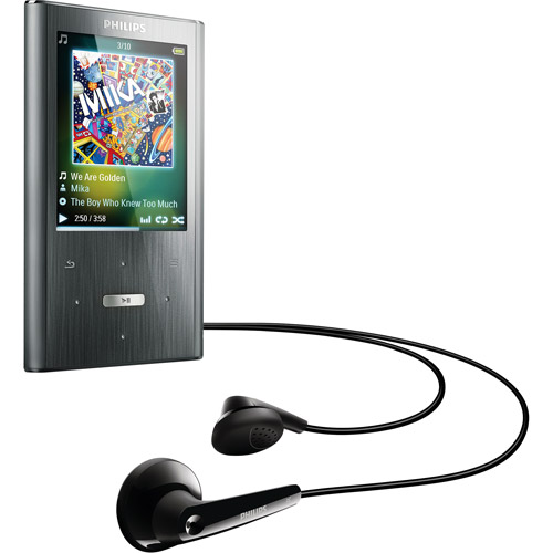 Philips GoGear Ariaz SA2ARA08K/17 8GB MP3 Player, Silver