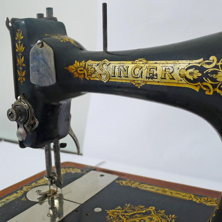 Canvas Print Handicraft Sew Singer Ancient Sewing Machine Stretched Canvas 10 x 14