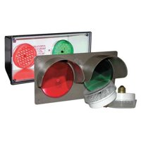 TAPCO 108982 Horiz Traffic Signal,Red/Grn,3-7/8 x14x7