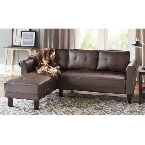 10 Spring Street Ashton Faux Leather Sectional  sc 1 st  Walmart : faux leather sectional - Sectionals, Sofas & Couches