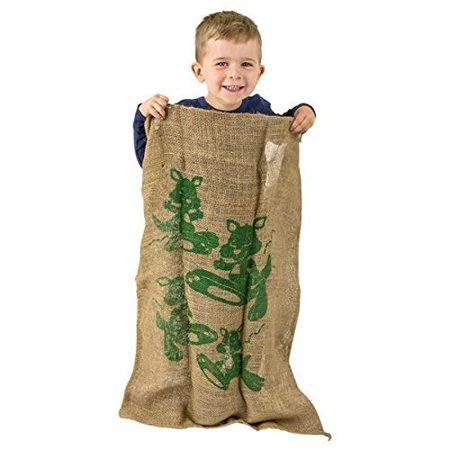 Burlap Potato Sack Race Bags 24 x 36 Inches 1 piece Natural Eco-friendly Jute Fabric - Perfect Outdoor Party Game for Kids and Adults - By Kidsco
