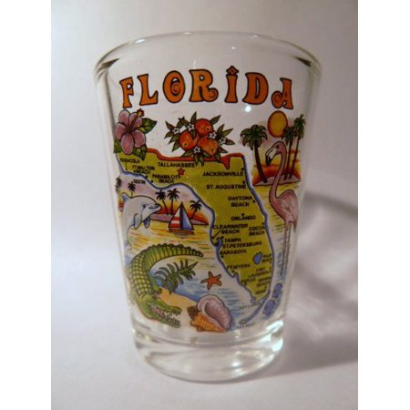 Florida Map Shot Glass