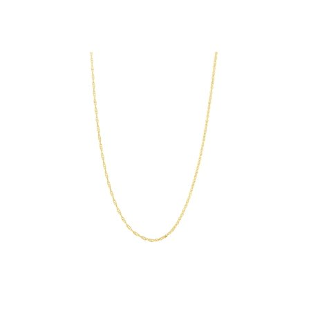 Beauniq 14k Yellow, White or Rose Gold 0.90mm Delicate Rope Chain Necklace