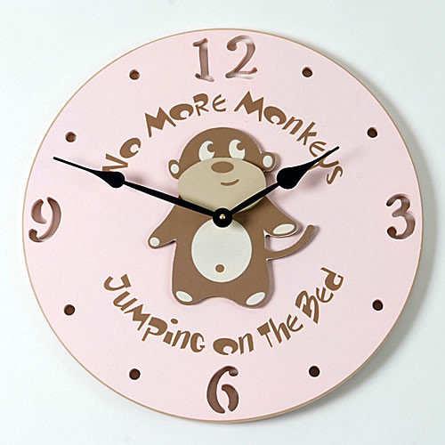 Forest Creations 18'' Monkey Wall Clock