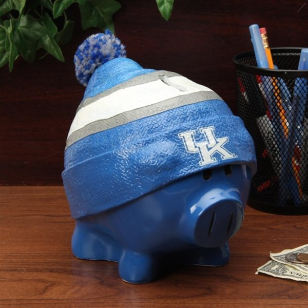 Kentucky Wildcats Piggy Bank Large With Hat by Forever Collectibles