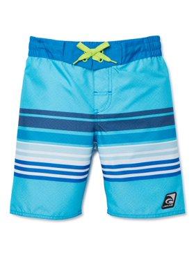 Laguna Boys UPF 50+ Stripe Swim Trunk Shorts with Pocket, Sizes 8-20