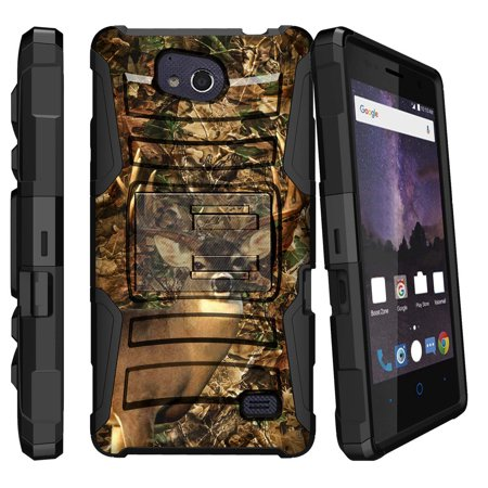 Leaf Phone Cover - ZTE Majesty Pro Case | ZTE Majesty Pro Holster Case [ Clip Armor ] Majesty Pro 2017 Clip & Kickstand Phone Cover - Deer Hunting Leaves