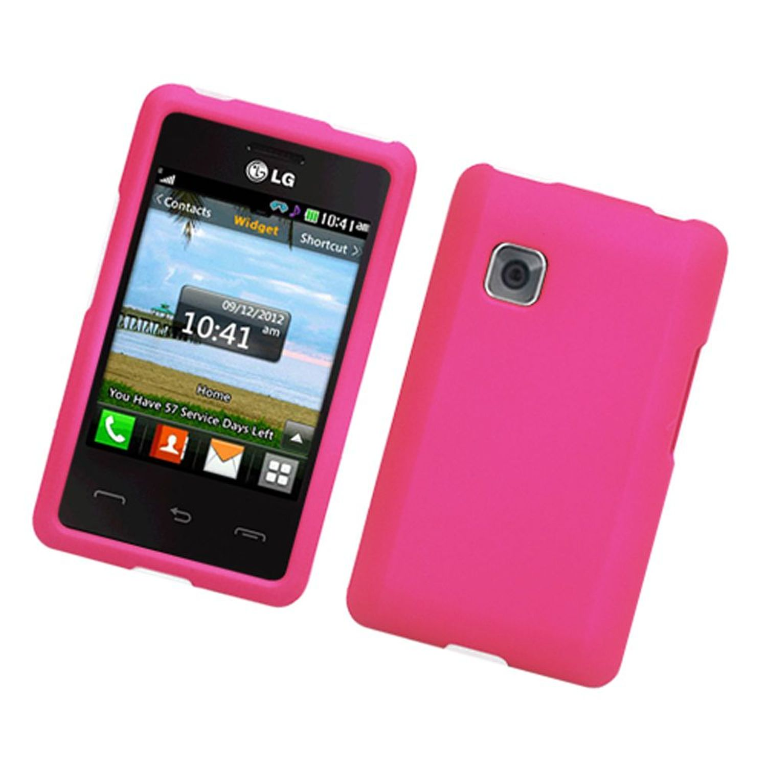LG 840G Case, by Insten Rubberized Hard Snap-in Case Cover For LG 840G, Hot Pink